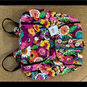Vera Bradley / Double ZIP Backpack / Va Va Bloom